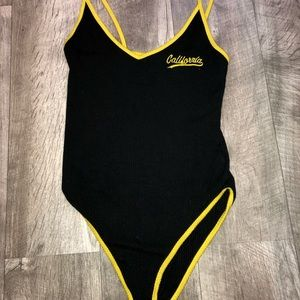 Black and Yellow Body Suit